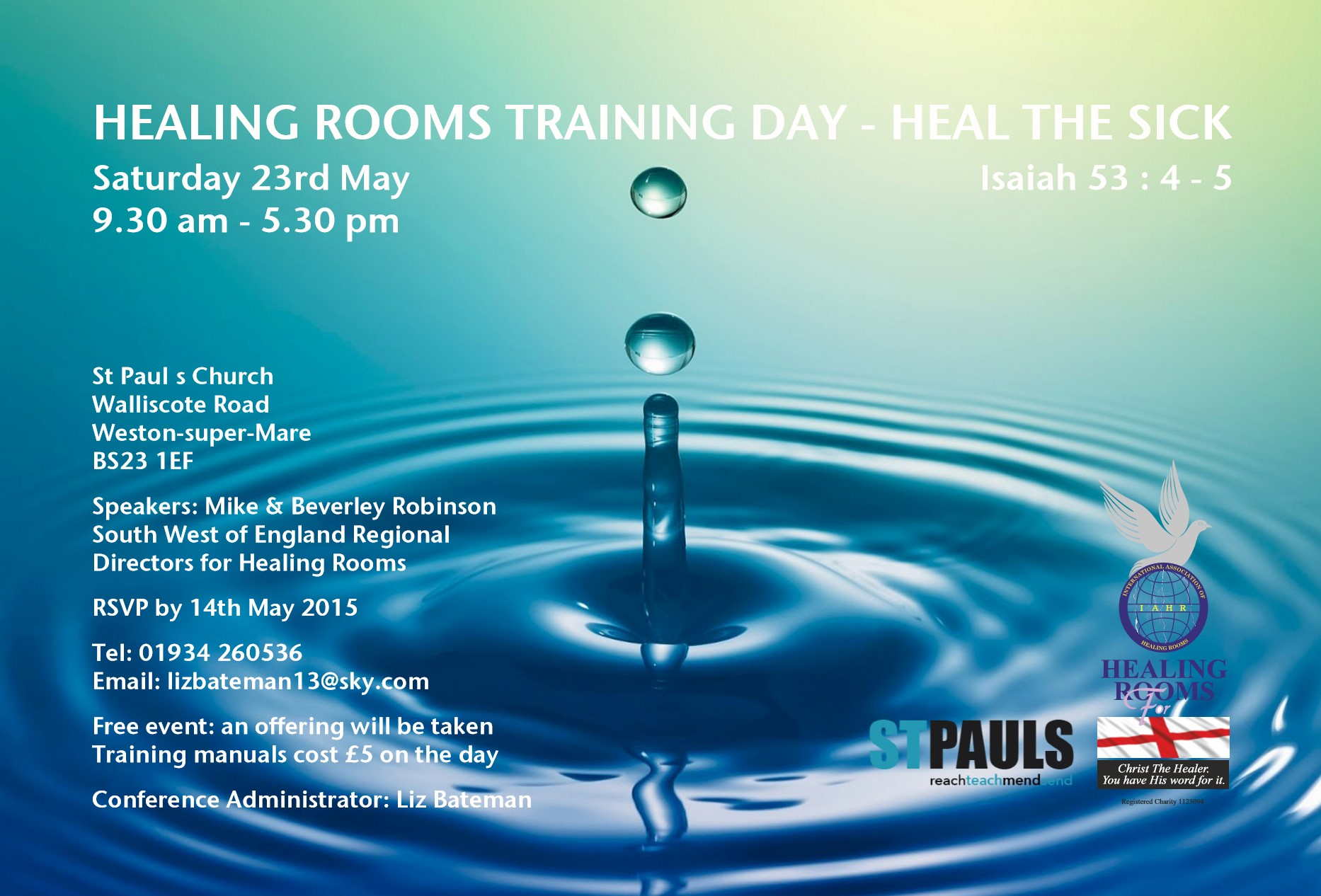 Healing Rooms Training Day | Churches Together in Plymouth