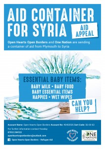 OHOB Aid Appeals March 2016 Baby Items