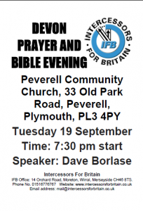Devon Prayer and Bible evening