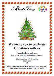 About Time Christmas Lunch invitation