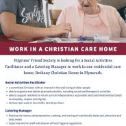 Social Activities Facilitator needed at Bethany
